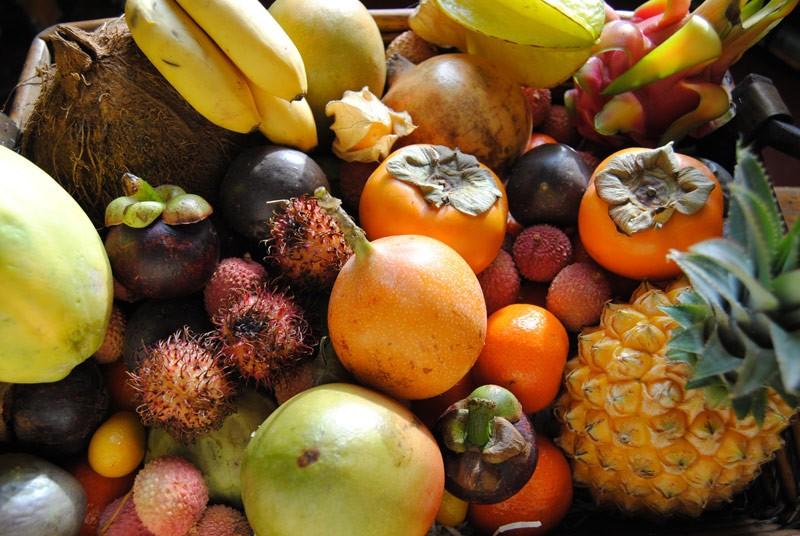 Gratin de fruits exotiques